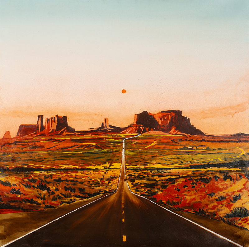 Road to the monument valley, 2019