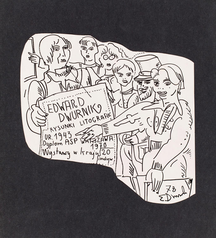 """""""Edward Dwurnik. Rysunki. Litografie"""", 1978"""