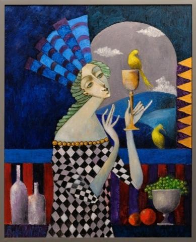 Kobieta pijąca cydr, 2020