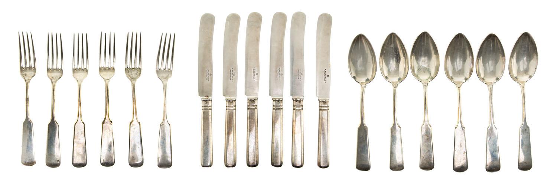 Zestaw sztućców obiadowych dla 6 osób, okres międzywojenny