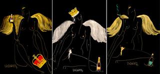 Zmęczone anioły (tryptyk), 2020