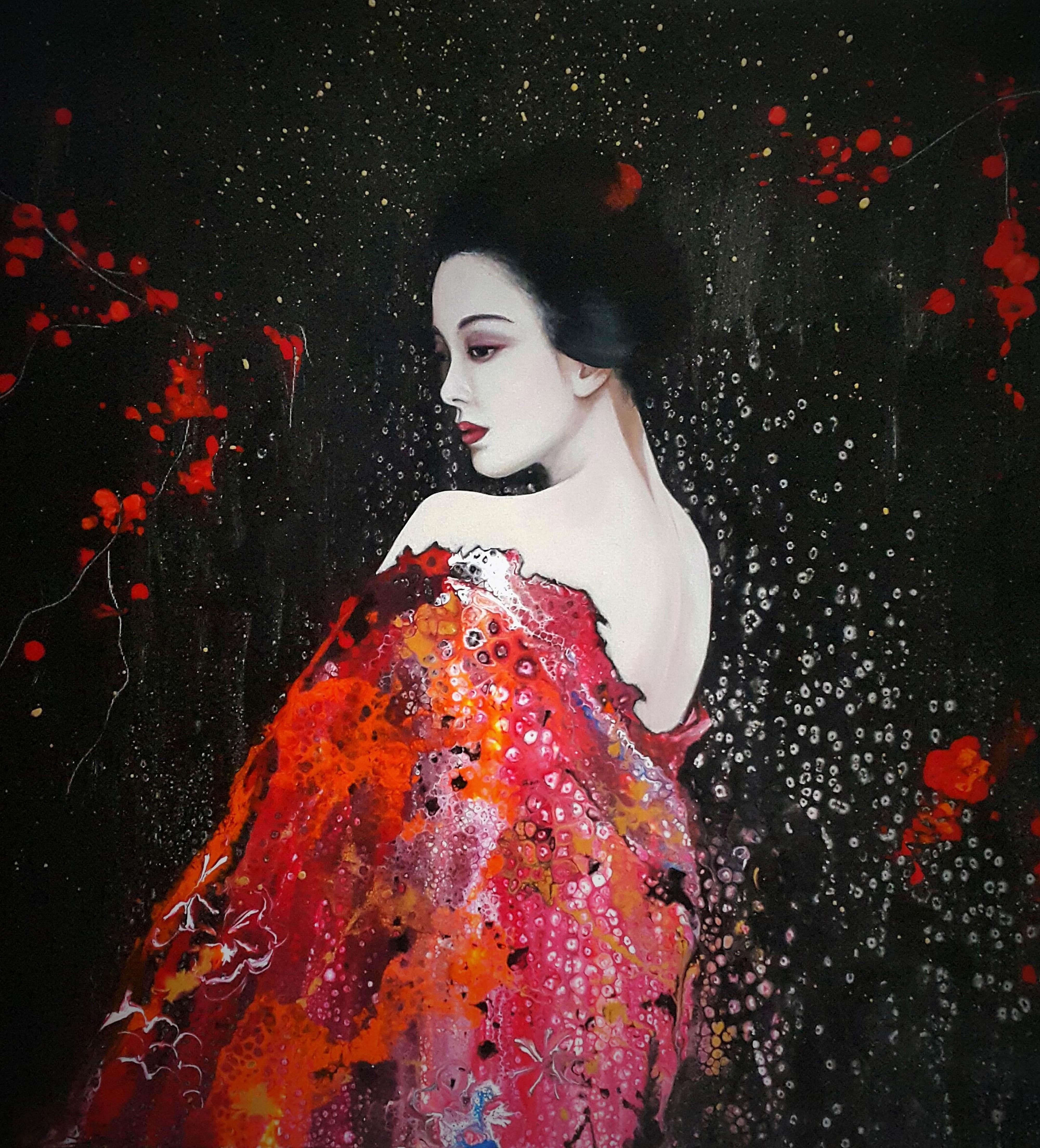 z cyklu Kimono i wachlarz, Geisha III, 2020