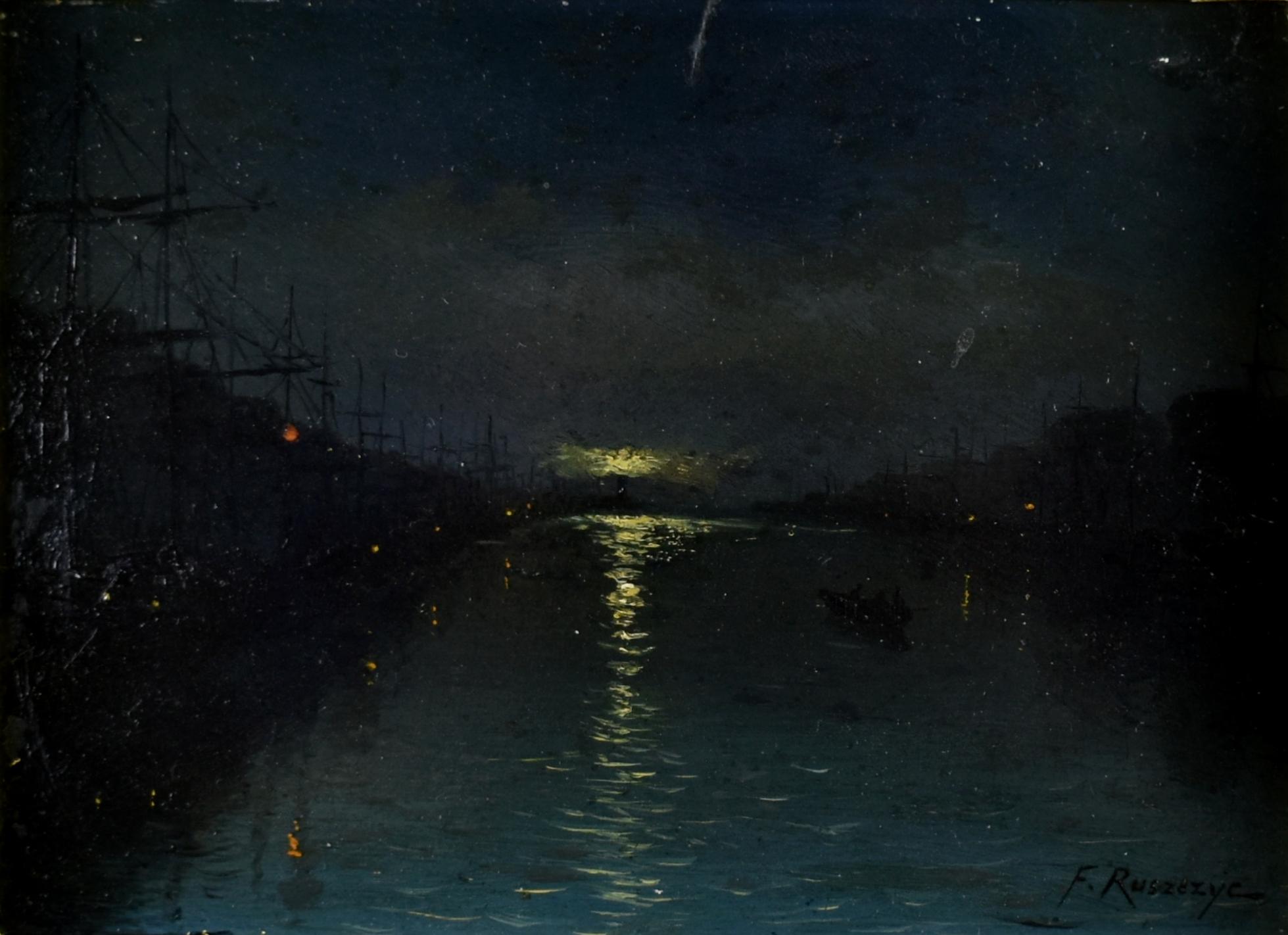 Nokturn- Nocny widok portu, 1893