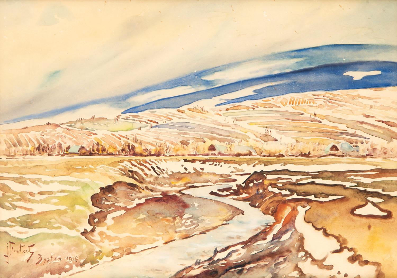 Pejzaż jesienny z Bystrej, 1918
