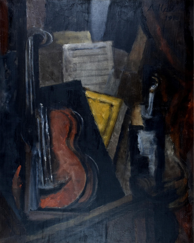 Martwa natura kubistyczna z wiolonczelą, 1916