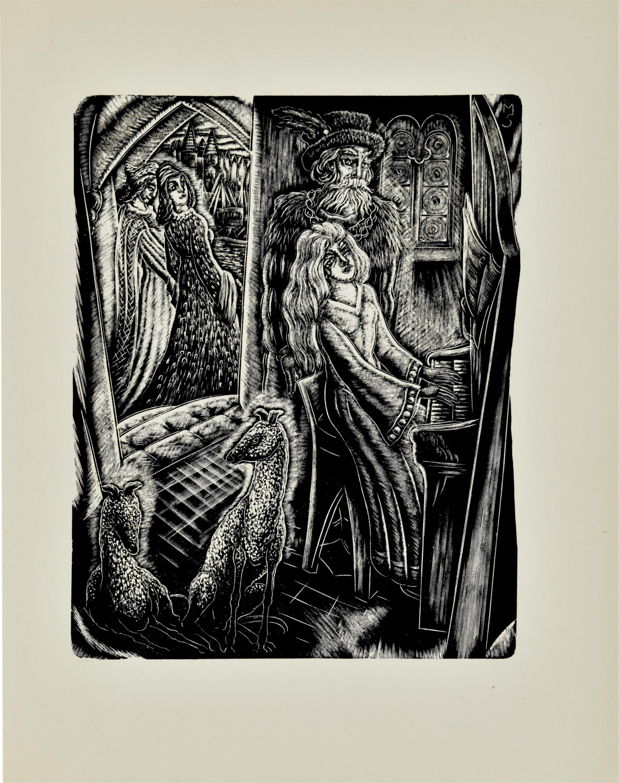"Kompozycja z książki ""Piękna i bestia"""