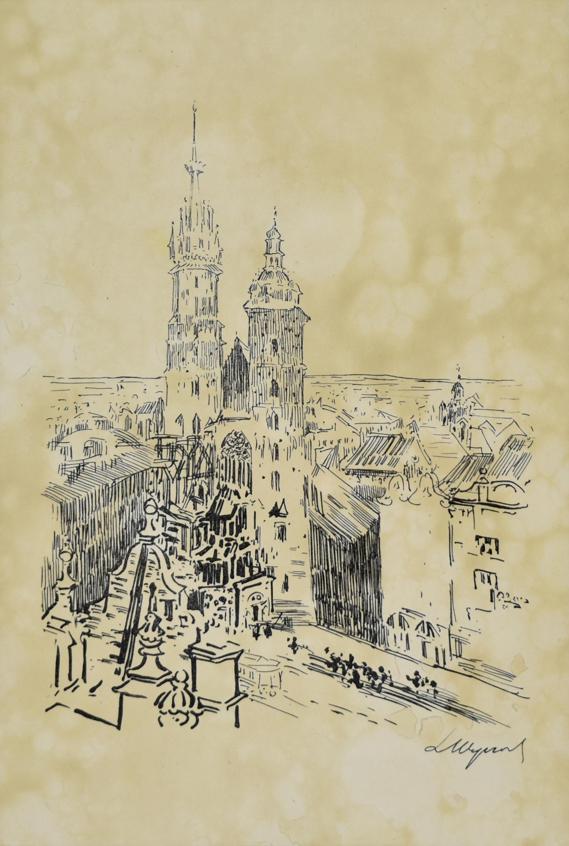 Kościół Mariacki na Rynku w Krakowie, 1915