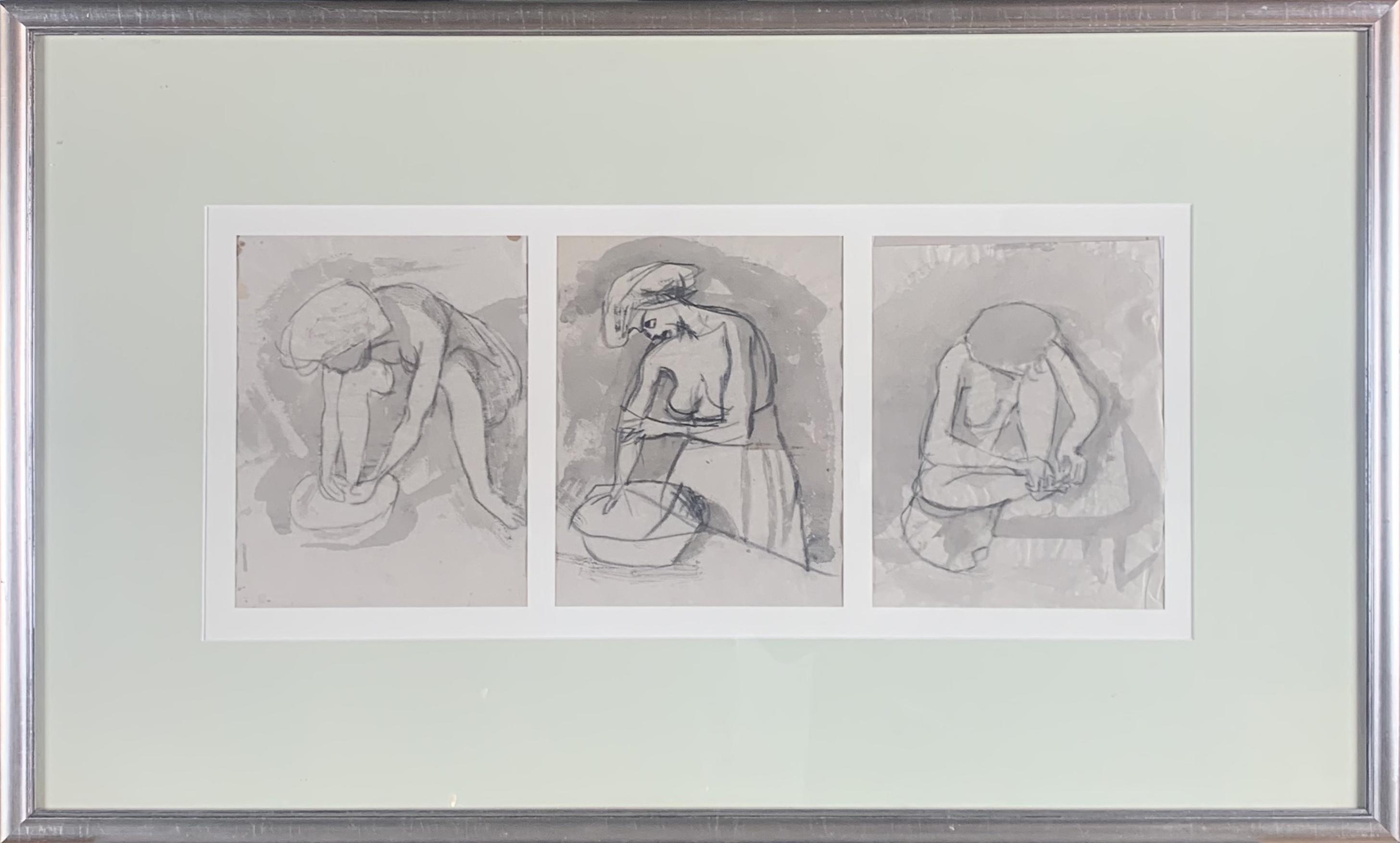 Szkic kobiety - tryptyk