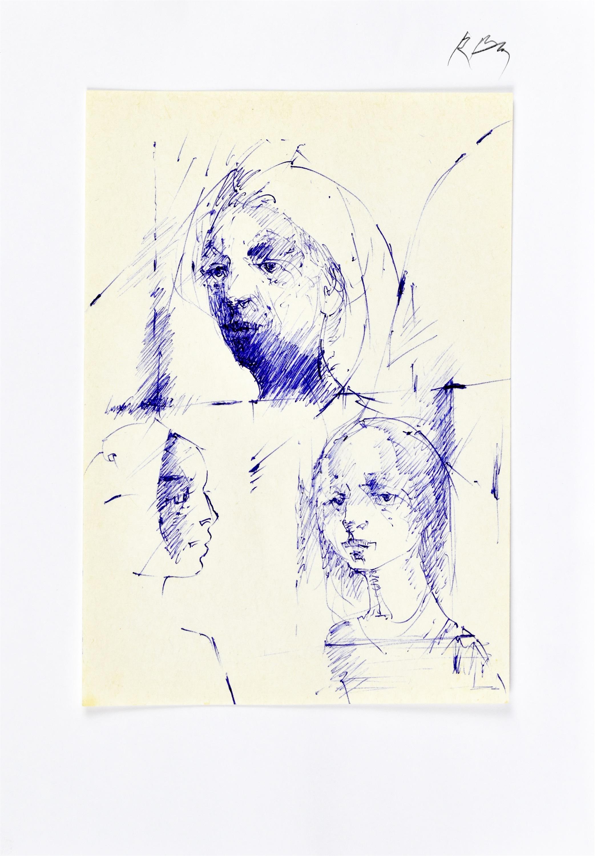 Szkice głów kobiet