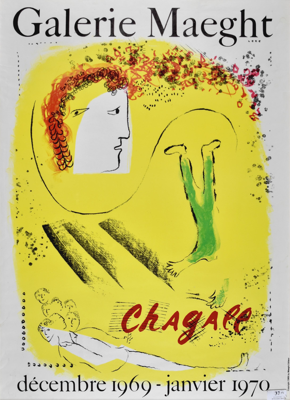 Żółte tło - Plakat Galerie Maeght, 1967-1970
