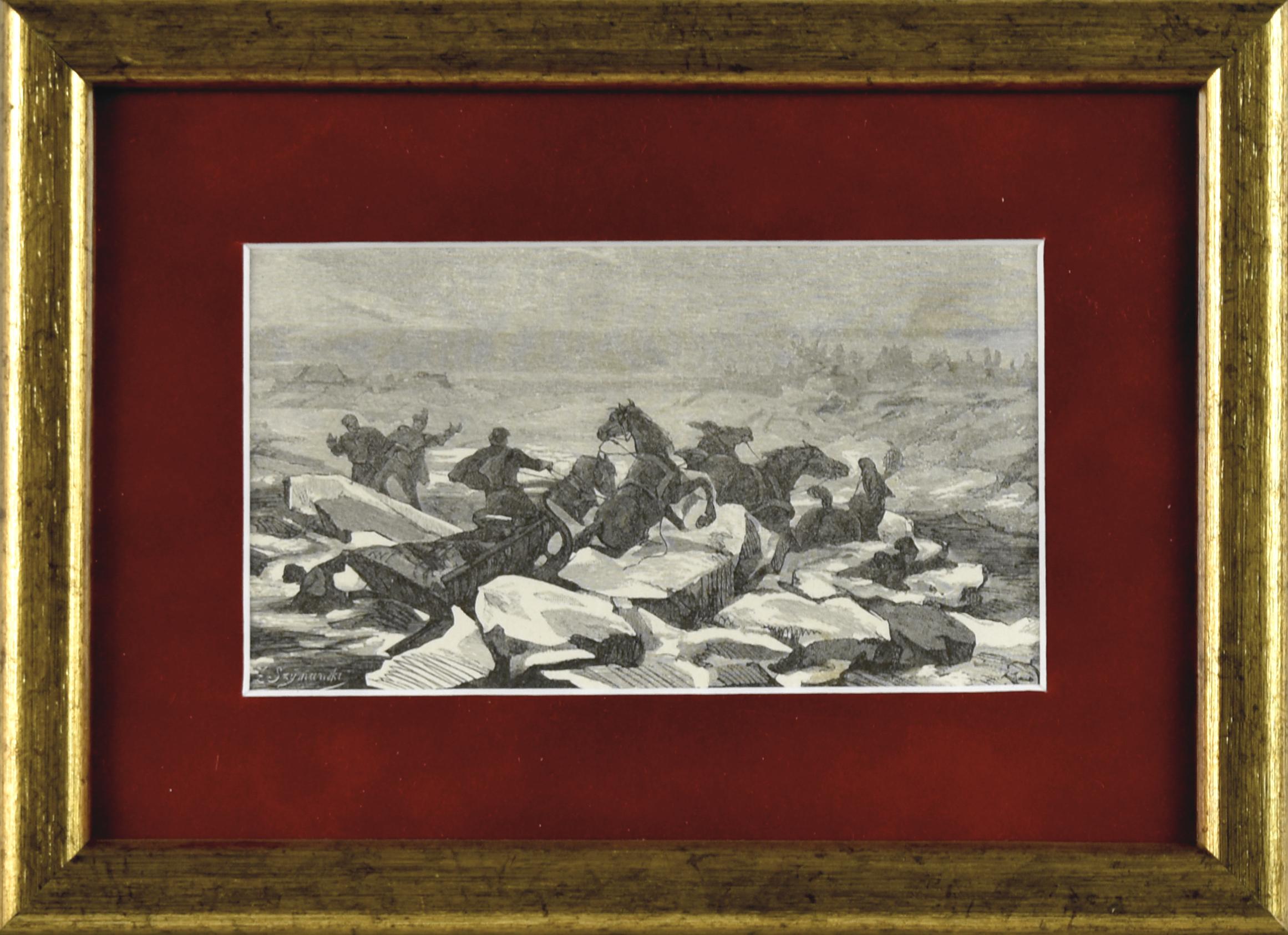 Katastrofa podczas przeprawy przez Niemen do Malinek – do narzeczonej Pana Mohorta