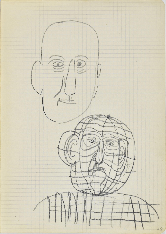 Szkic męskiej głowy, popiersie mężczyzny