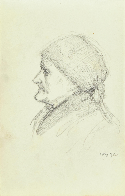 Studium portretowe wiejskiej kobiety