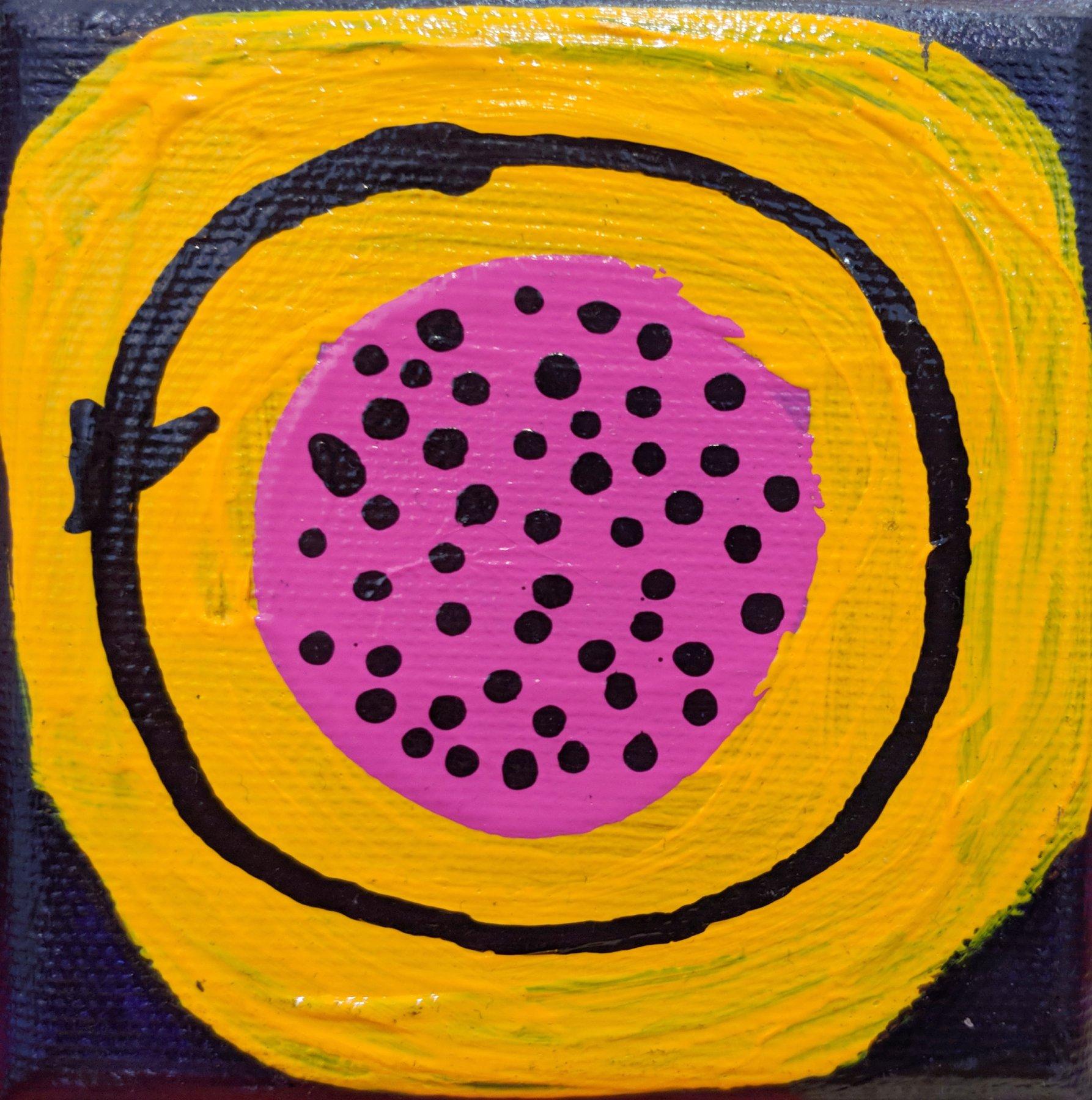 Gluon różowo-żółty