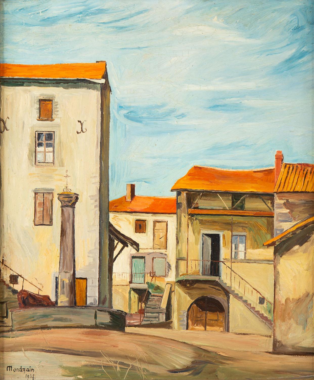 """""""Pejzaż miejski"""" (""""La Roche-Pradieze""""), 1928"""