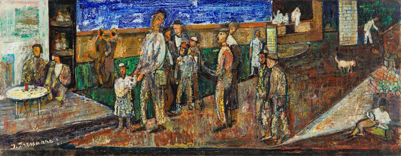 """""""Robotnicy (Wybrzeże w Jaffie)"""" (""""Les ouvriers (Bord de mer à Jaffa)""""), 1947"""