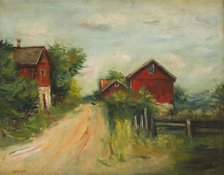 Czerwone domy w New Salem