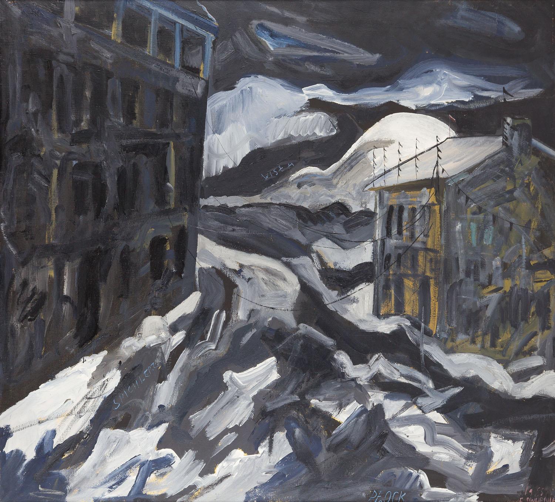 """""""Płock (Spichlerz)"""" z cyklu """"Podróże autopstopem"""", 1985"""