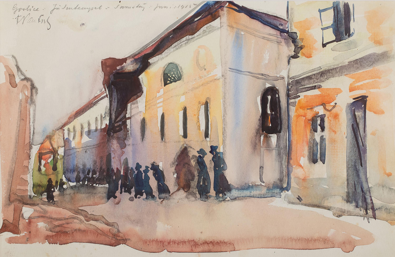 Synagoga w Gorlicach, 1915 r.