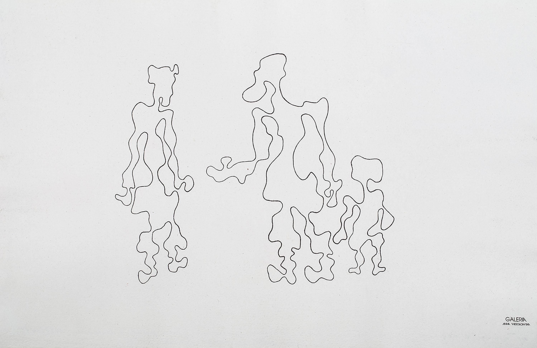 Dwie postaci z dzieckiem – z cyklu Białoruś Zachodnia, 1939/1985