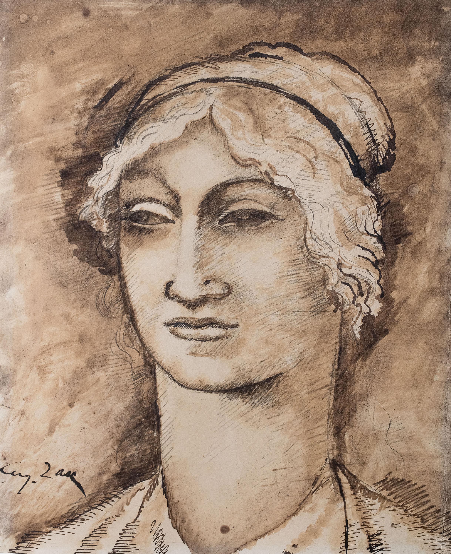 Głowa kobiety, ok. 1912 r.