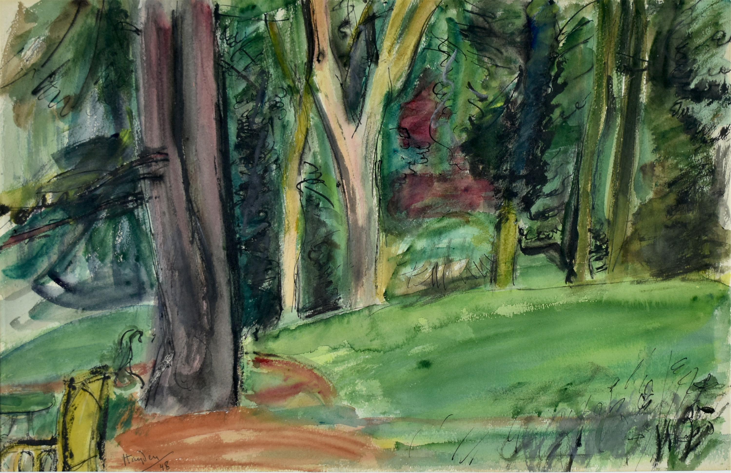 W ogrodzie, 1948