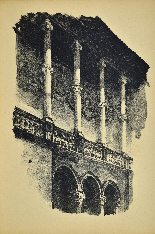 Fragment krużganku Zamku królewskiego na Wawelu