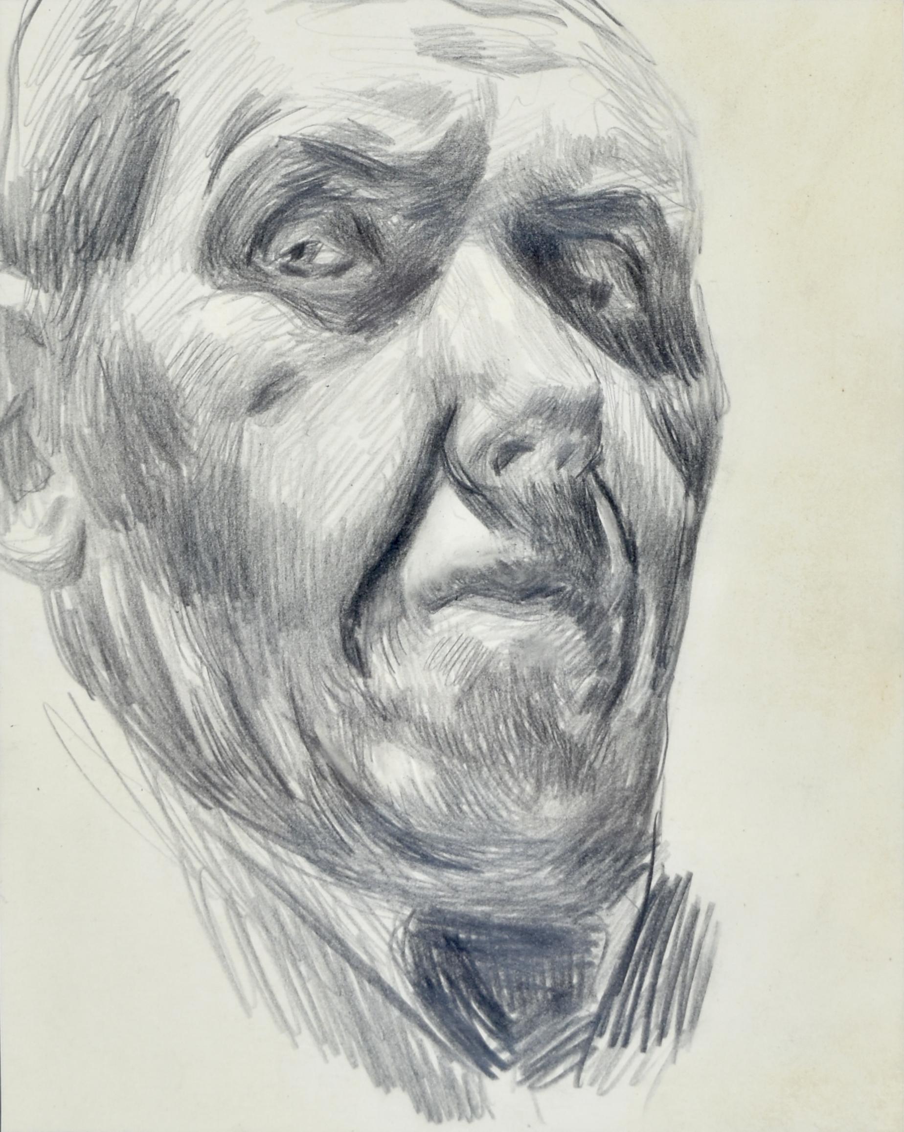 Autoportret w ujęciu prawego en trois quatre od dołu