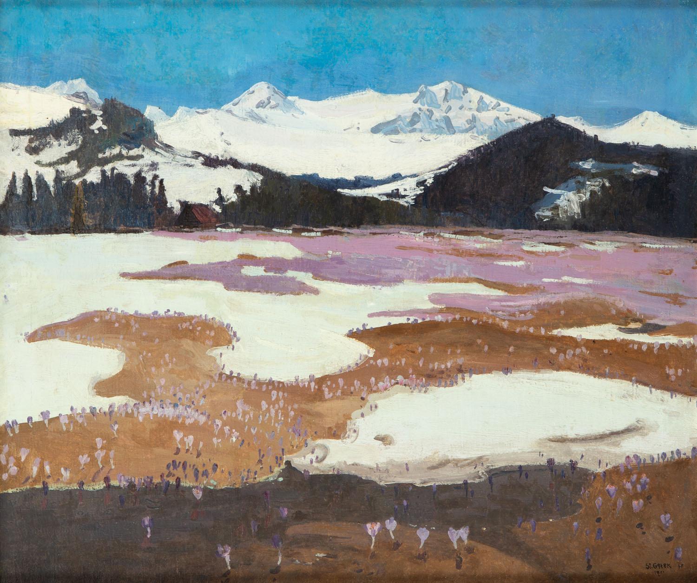 Przedwiośnie (Widok z Hali Gąsienicowej), 1911