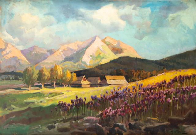 Widok tatrzański (widok na Kominiarski Wierch)