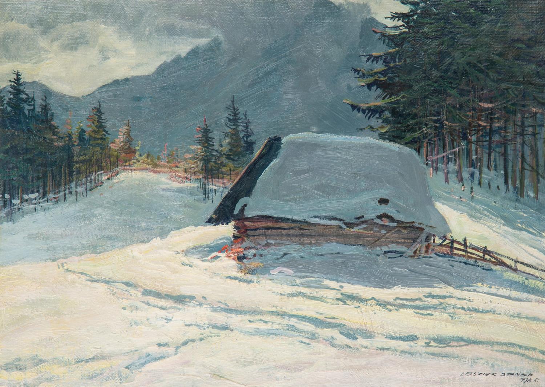 Pezaż zimowy, 1976