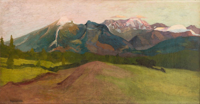 """""""Tatry o zachodzie"""", około1912"""