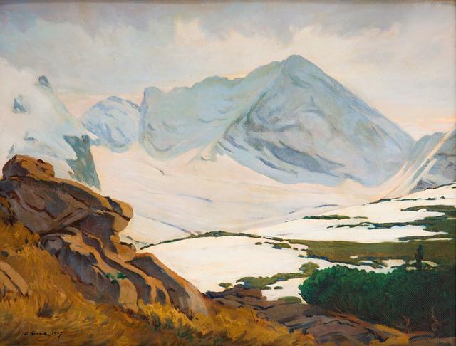 Pejzaż górski (widok na Świnicę), 1947