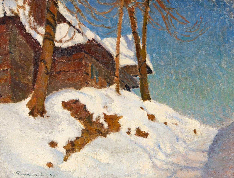 Zimowy widok z Zakopanego, 1948
