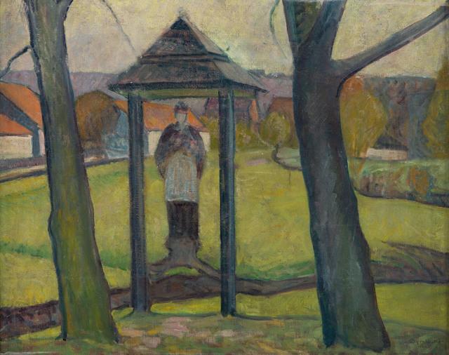Motyw z Bochni (Nepomuk z Brzeźnickiej) / Kapliczka przydrożna, 1935