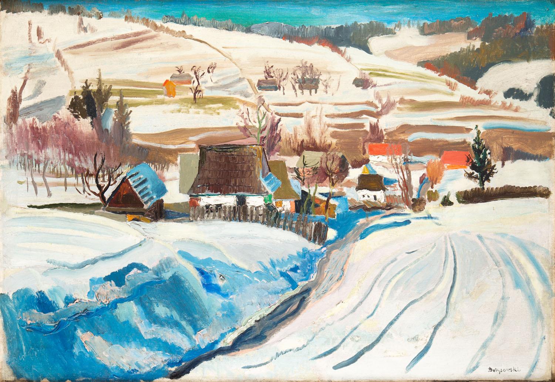 Pejzaż zimowy z Podhala