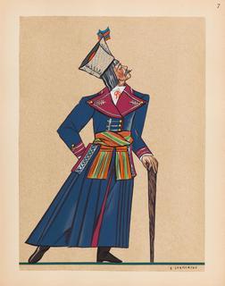 Chłop z Wilanowa koło Warszawy, plansza VII z teki 'Polish Peasants' Costumes', 1939