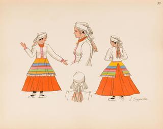 Chłopka z Wileńszczyzny, plansza XXXVIII z teki 'Polish Peasants' Costumes', 1939