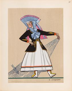 Rybaczka z Kaszub, plansza XXXVII z teki 'Polish Peasants' Costumes', 1939