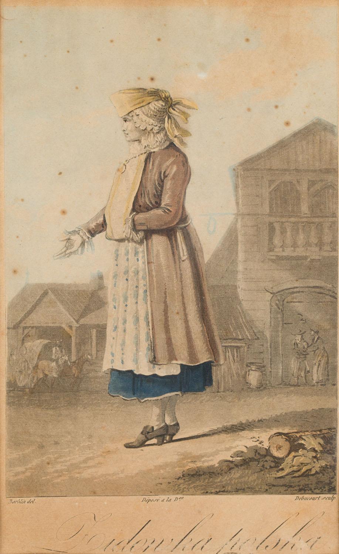 """""""Żydówka polska"""" wg Jana Piotra Norblina (""""Zbiór rozmaitych stroiów polskich""""), 1817"""