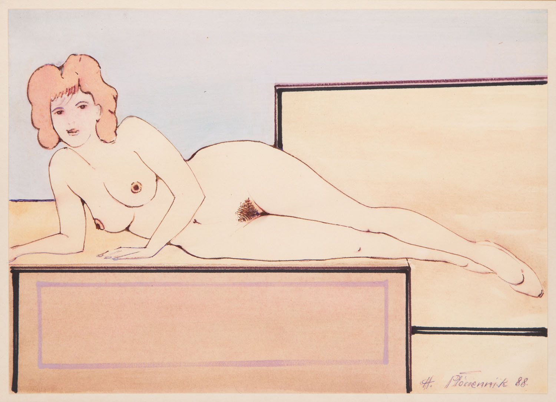 Leżąca kobieta, 1988
