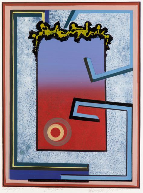 """""""Monotypia +"""" (czerwono-fioletowa), 2012"""