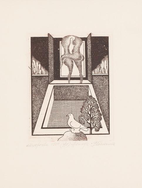 Kompozycja z ptakiem, 1980