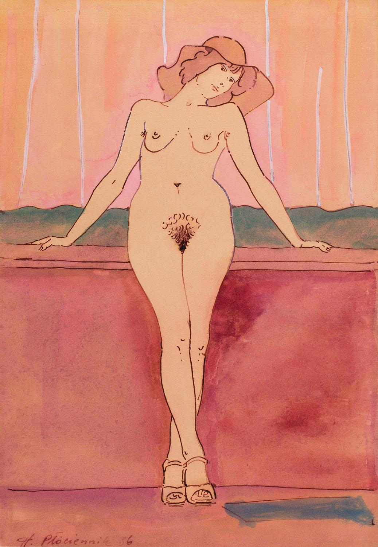 Akt (dziewczyna w kapeluszu), 1986