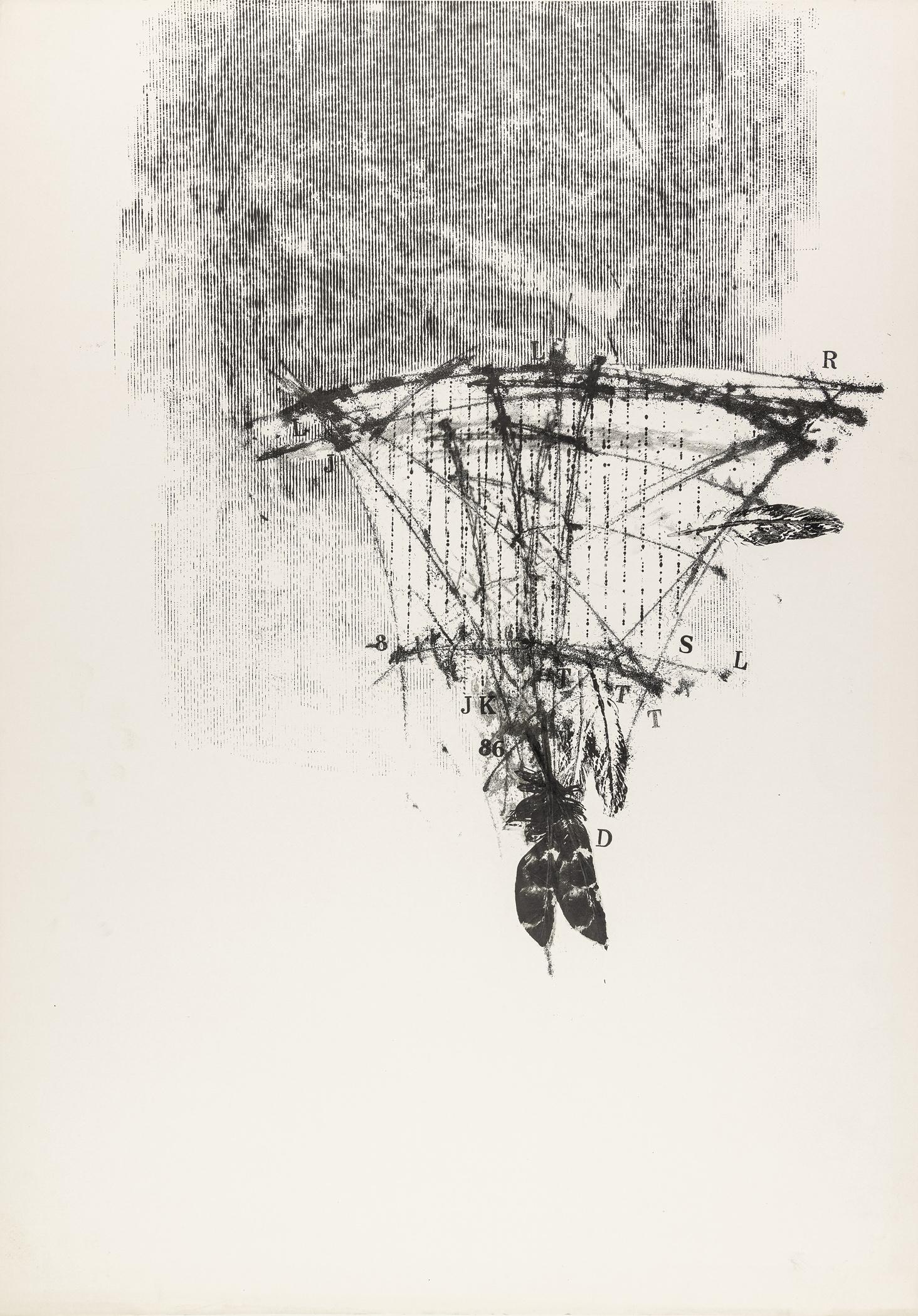 """Bez tytułu (z cyklu: """"Składnica niegdysiejszych aniołów"""" bez numerów), 1990"""