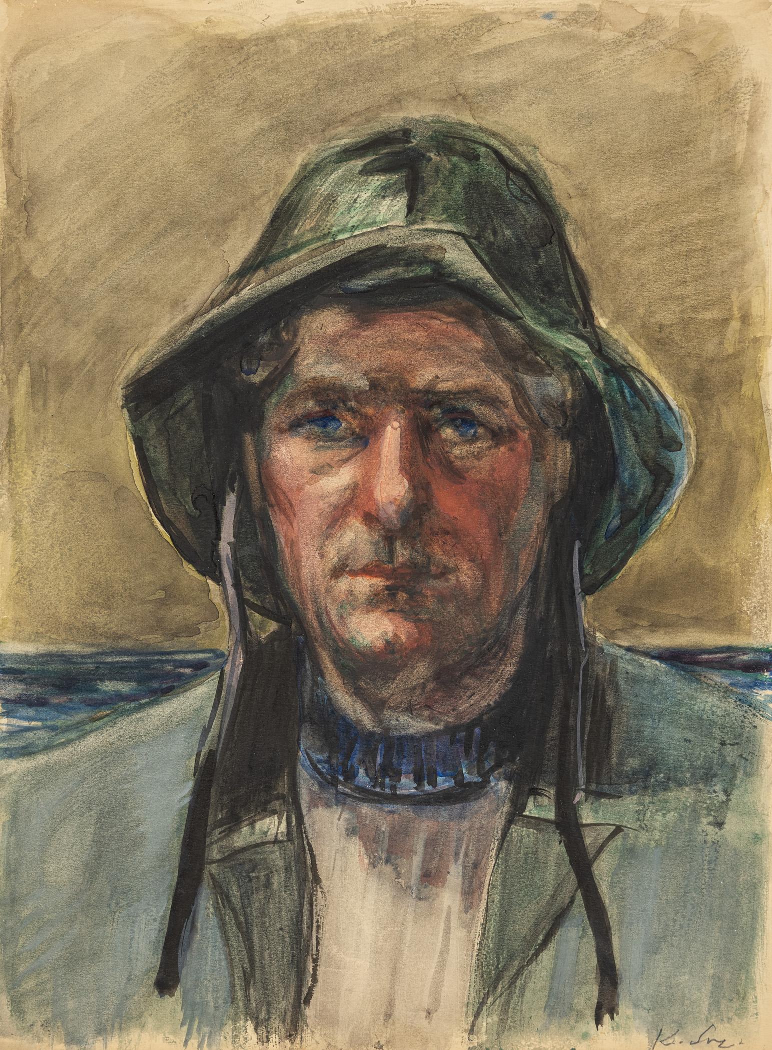 Portret rybaka, przełom lat 40. i 50. XX w.