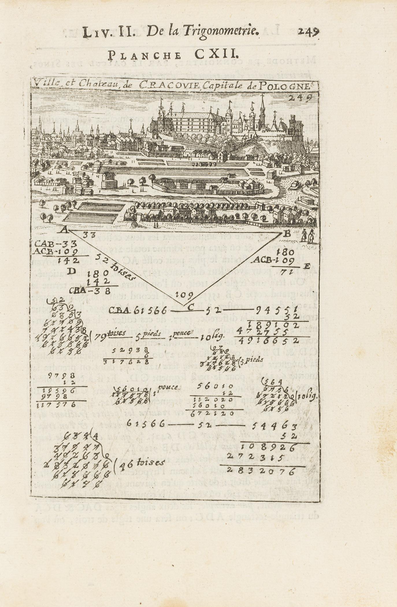 Ville et chateau de Cracovie, XVII/XVIII w.