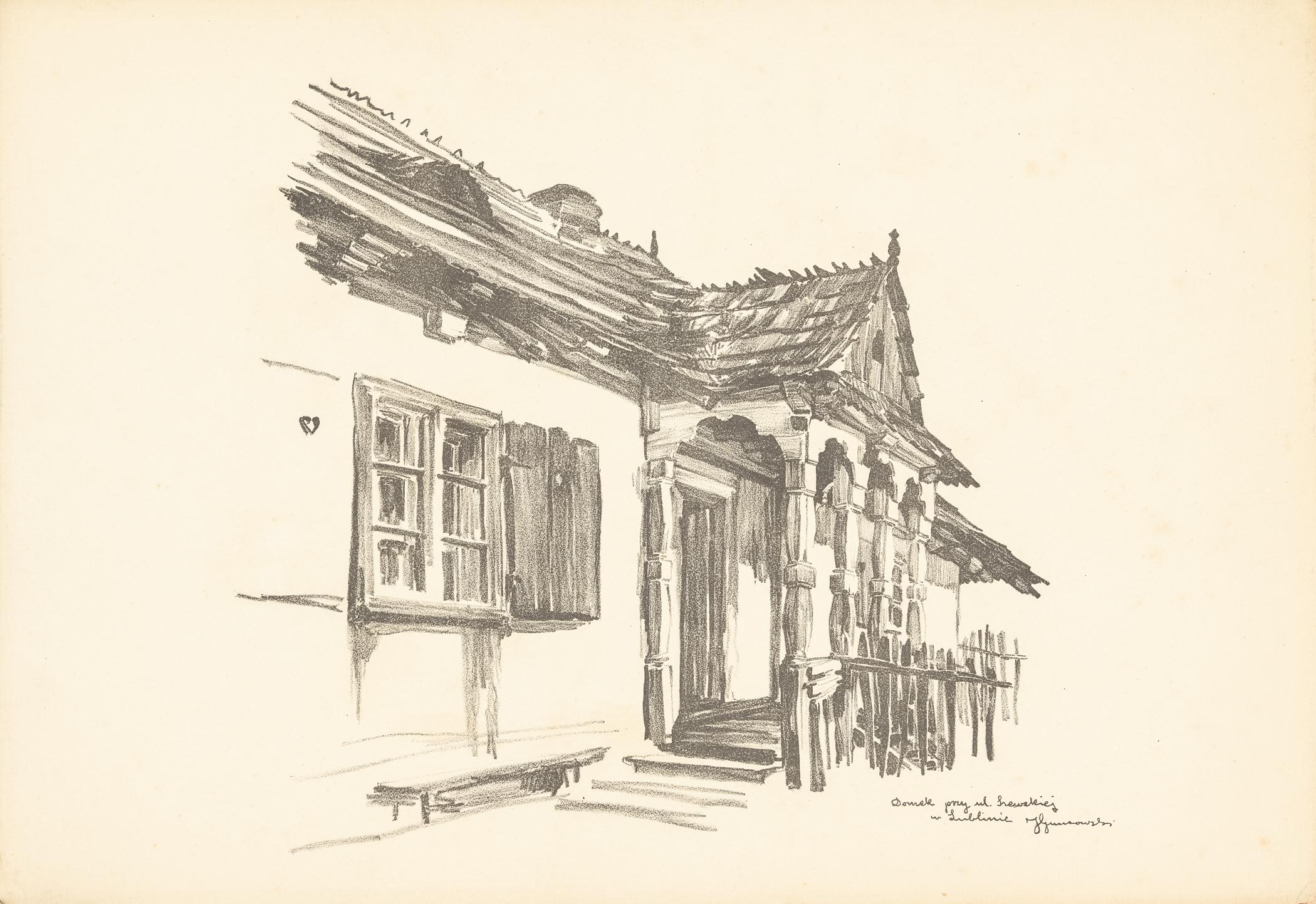 Lublin. Domek przy ul. Szewskiej, 1917