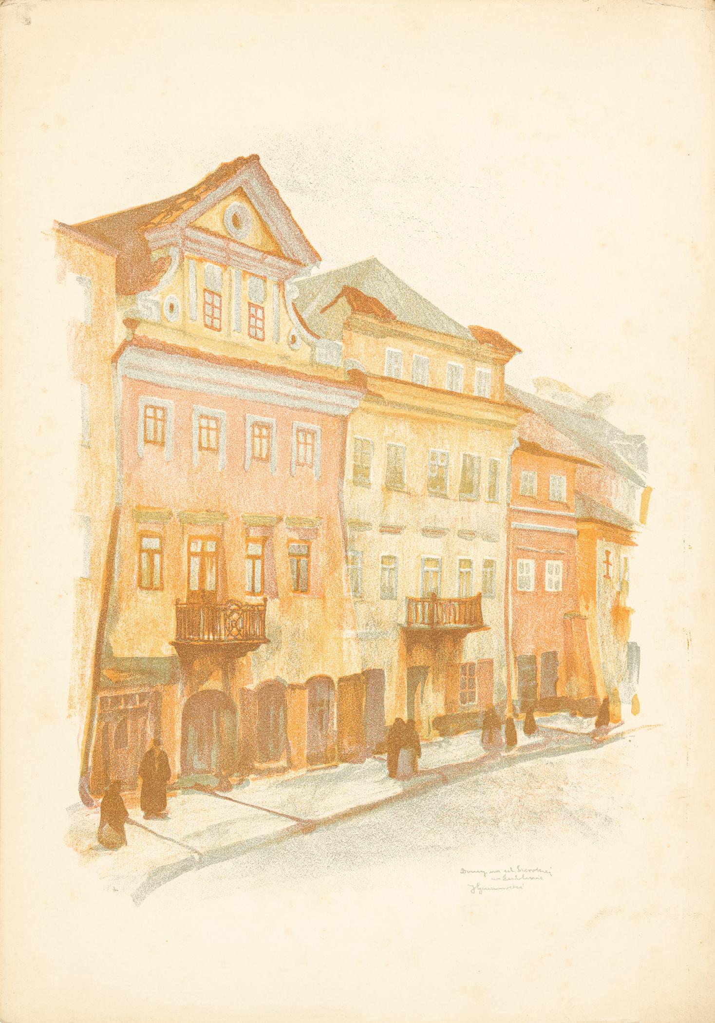 Lublin. Domy przy ul. Szerokiej, 1917