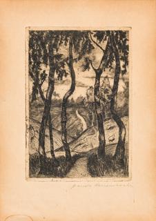 Pejzaż z drzewami, ok. 1913